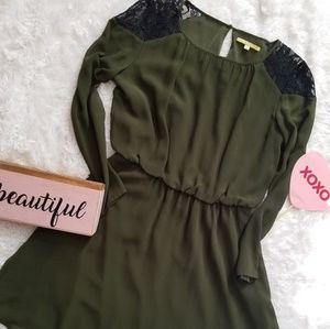 Bisou Bisou |Long Sleeve Dress| Olive | Size S